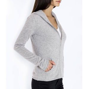 INC Cashmere Hoodie Dark Gray Zipper